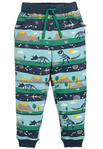 Image of Frugi Printed Snug Joggers - Dig Up A Dino