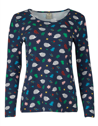 Image of Frugi Grown Ups Bryher Top - Hedgehogs