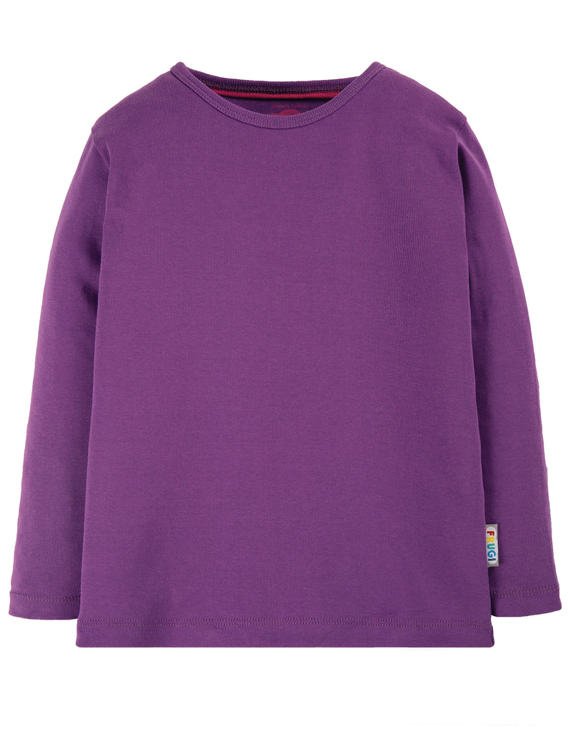 Frugi Everyday Long Sleeve Tee - Thistle