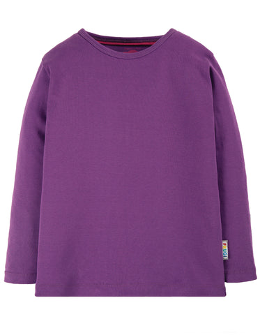 Image of Frugi Everyday Long Sleeve Tee - Thistle