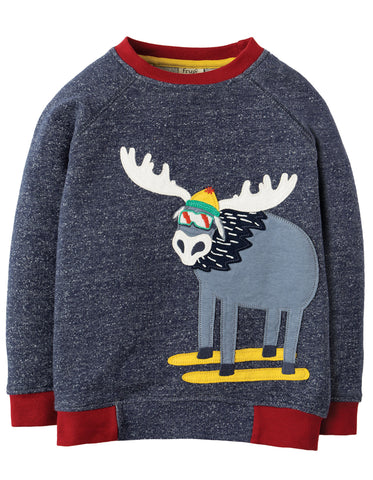Frugi Jaco Jumper - Indigo Terry/Moose - Tilly & Jasper