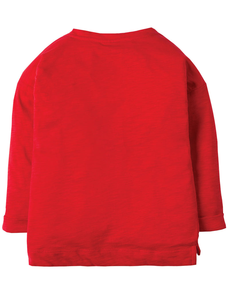 Frugi Scarlett Slouchy Tee - Mars Red/Goose - Organic Cotton