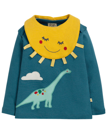 Image of Frugi Bibs & Bobs Set - Steely Blue/Dino - Tilly & Jasper