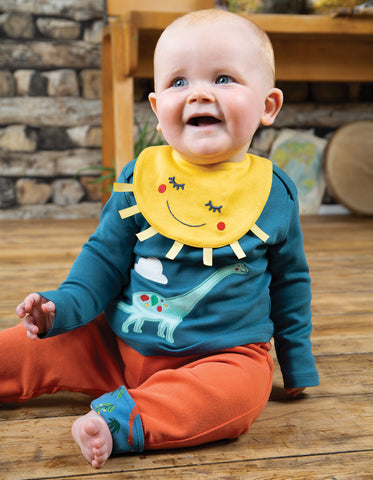 Frugi Bibs & Bobs Set - Steely Blue/Dino - Tilly & Jasper