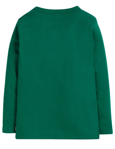 Image of Frugi Favourite Long Sleeve Tee - Jade - Tilly & Jasper