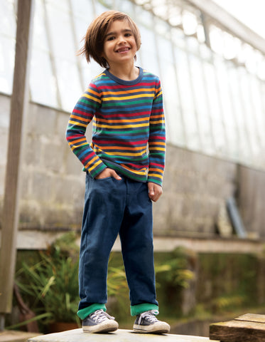 Frugi Favourite Long Sleeve Tee - Rainbow Stripe