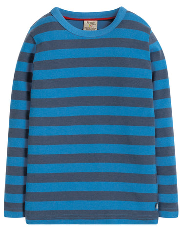 Image of Frugi Favourite Long Sleeve Tee - Sail Blue Stripe - Tilly & Jasper