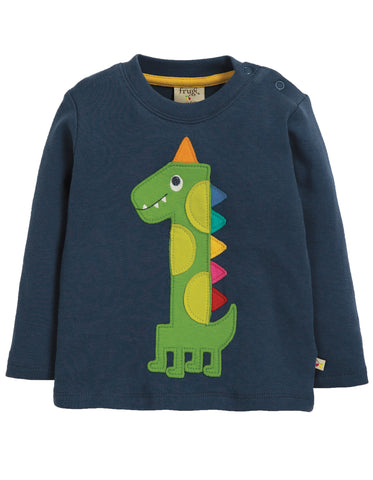 Image of Frugi Magic Number Top - Space Blue/Dino - Tilly & Jasper