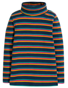 Frugi Ava Stripe Roll Neck - Multistripe - Tilly & Jasper