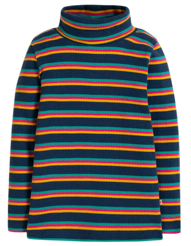 Image of Frugi Ava Stripe Roll Neck - Multistripe - Tilly & Jasper