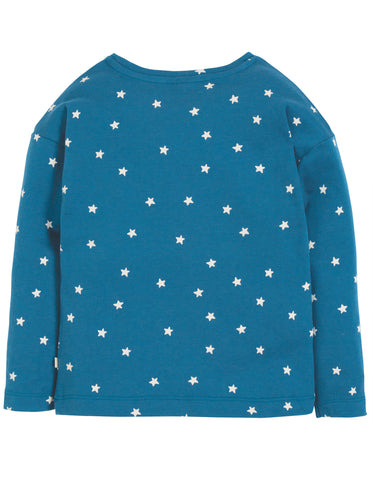 Image of Frugi Bethany Boxy Top - Steely Blue Star/Cloud - Tilly & Jasper