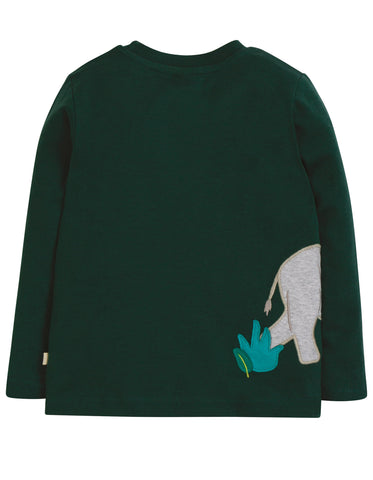 Image of Frugi Joe Applique Top - Fir Tree/Rhino - Tilly & Jasper
