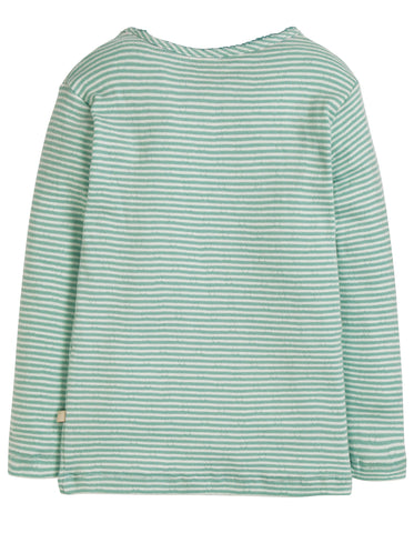 Image of Frugi Mia Pointelle Top - Topaz Blue Pointelle - Tilly & Jasper
