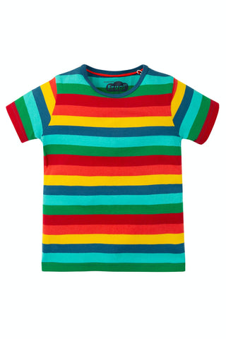 Frugi Favourite T-Shirt - Steely Blue Multi Stripe