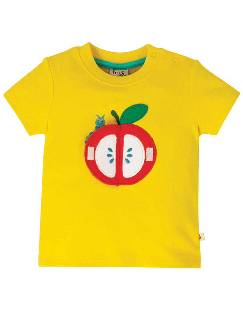 Frugi Playdate Tee - Sunflower/Apple