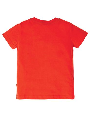 Frugi Carsen T-Shirt - Koi Red/Sports