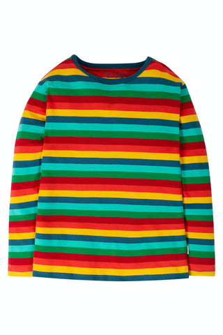 Image of Frugi Grown Ups Favourite Tee - Steely Blue Multi Stripe