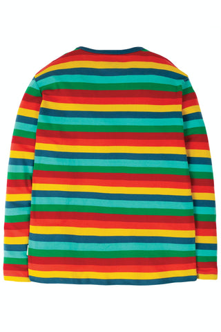 Frugi Grown Ups Favourite Tee - Steely Blue Multi Stripe