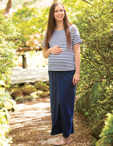 Image of Frugi Iris Top - Indigo Stripe (maternity wear)