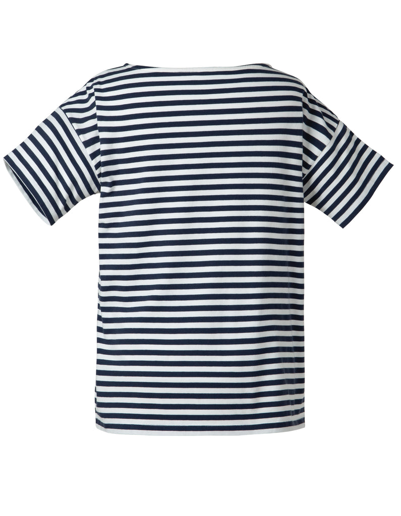 Frugi Iris Top - Indigo Stripe (maternity wear)