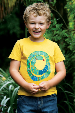 Image of Frugi Avery Applique Top - Bumble Bee/Snake
