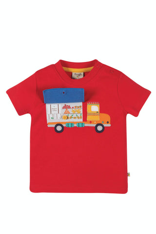 Frugi Playdate Tee - True Red/Truck