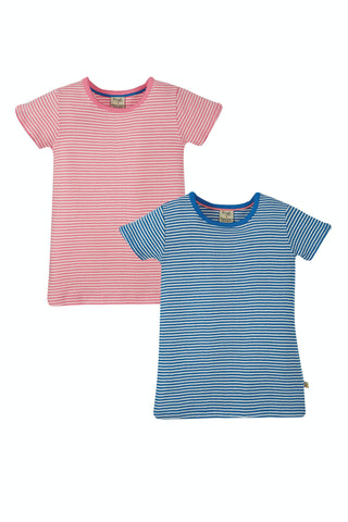 Frugi Pointelle 2 Pack Tops - Pointelle Multipack