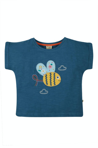 Image of Frugi Sophia Slub T-Shirt - India Ink/Bee