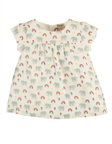 Frugi Meg Muslin Top -  Elephants