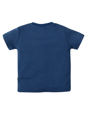Little Creature Applique Top - Marine Blue / Veg Stall