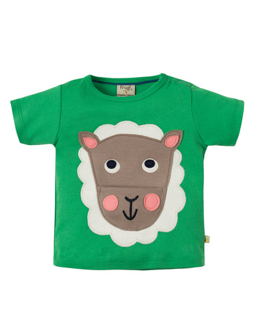 Frugi Polzeath Pocket Top - Field/Sheep - Tilly & Jasper