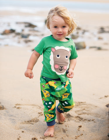 Image of Frugi Polzeath Pocket Top - Field/Sheep - Tilly & Jasper