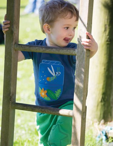 Image of Frugi Polzeath Pocket Top - Marine Blue / Firefly - Tilly & Jasper