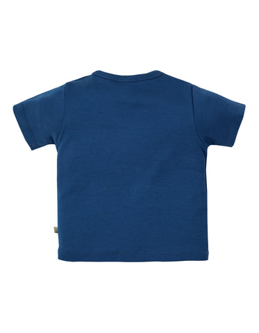 Image of Frugi Polzeath Pocket Top - Marine Blue / Firefly