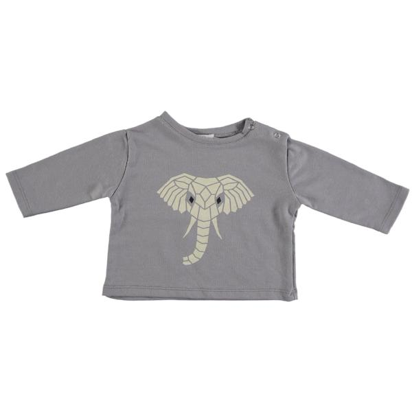 Suindiatic Grey Elephant Baby Sweatshirt