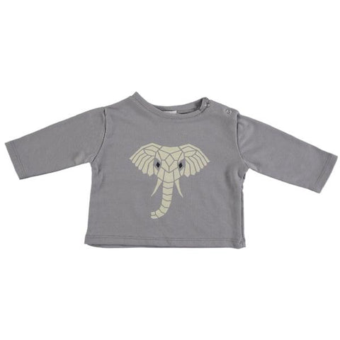 Image of Suindiatic Grey Elephant Baby Sweatshirt