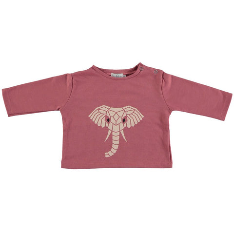 Suindiatic Pink Elephant Sweatshirt - Organic Cotton