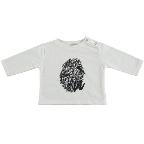 Suindiatic White Kiwi Sweatshirt - Organic Cotton