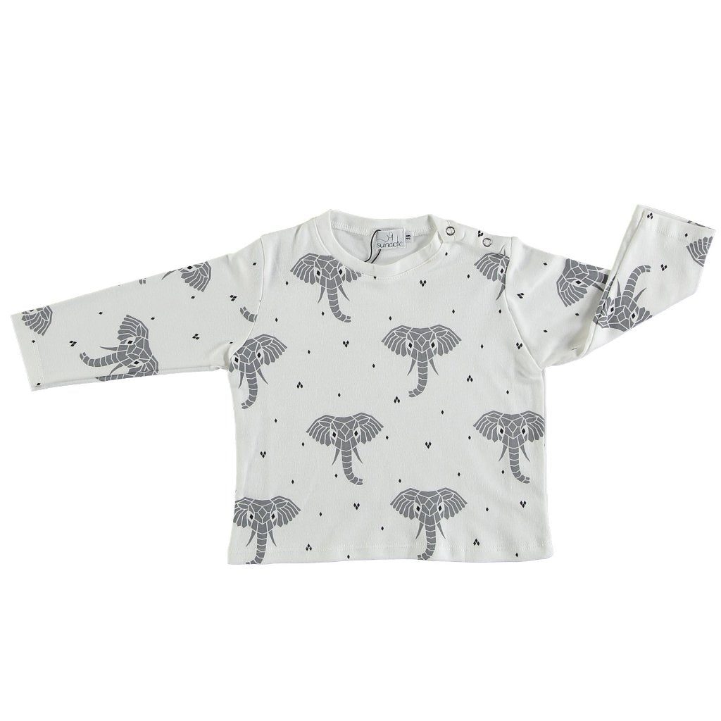 Suindiatic White Elephant Baby Shirt