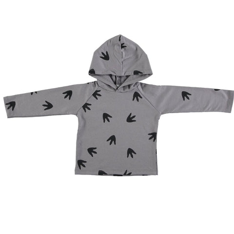 Image of Suindiatic Grey Footprints Hoodie