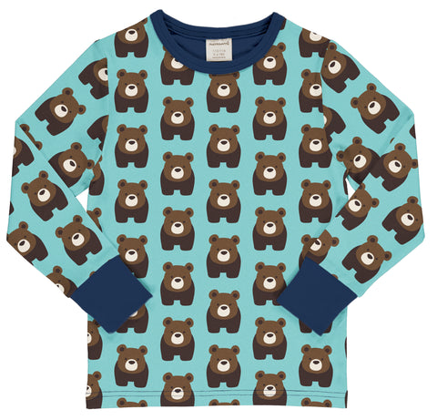 Maxomorra Long Sleeve Top - Bear