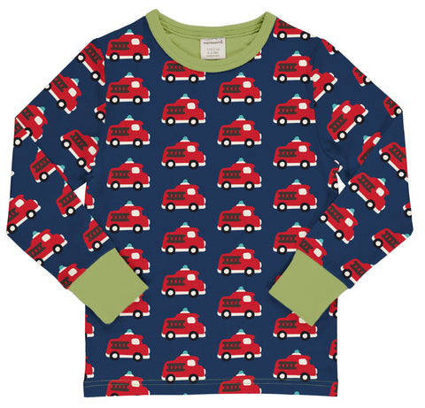 Maxomorra Long Sleeve Top - Fire Truck
