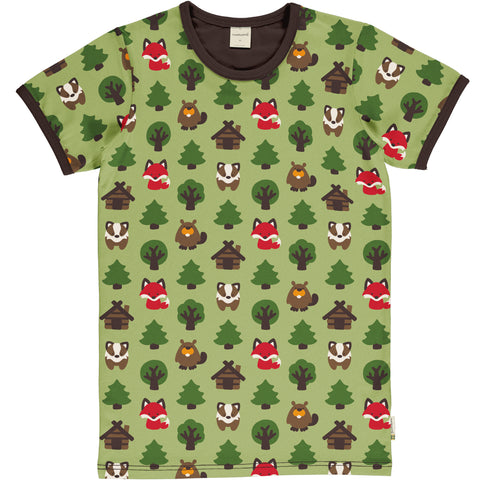Maxomorra Short Sleeve Adult Top - Green Forest