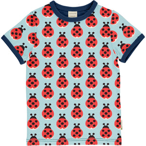 Maxomorra Short Sleeve Top - Lazy Ladybug