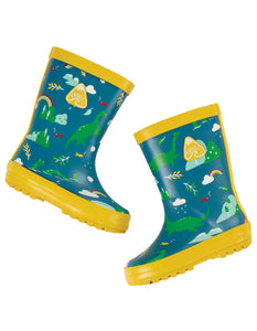 Frugi Puddle Buster Wellington Boots - Loch Blue Nessie