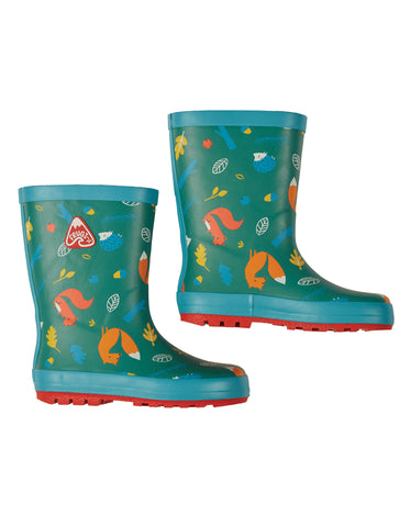 Image of Frugi The National Trust Puddle Buster Welly - Woodland
