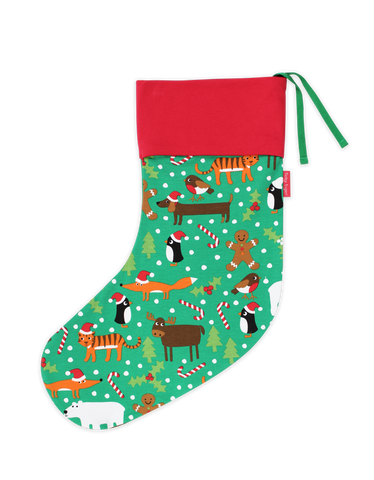 Toby Tiger Christmas Print Stocking