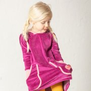 Image of Alba Marie Hood Dress - Boysenberry - Tilly & Jasper