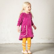 Alba Marie Hood Dress - Boysenberry - Tilly & Jasper