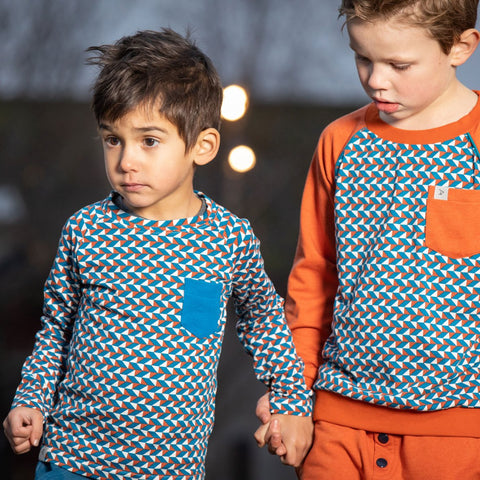 Image of Alba Stephan Top - Triangles - Tilly & Jasper